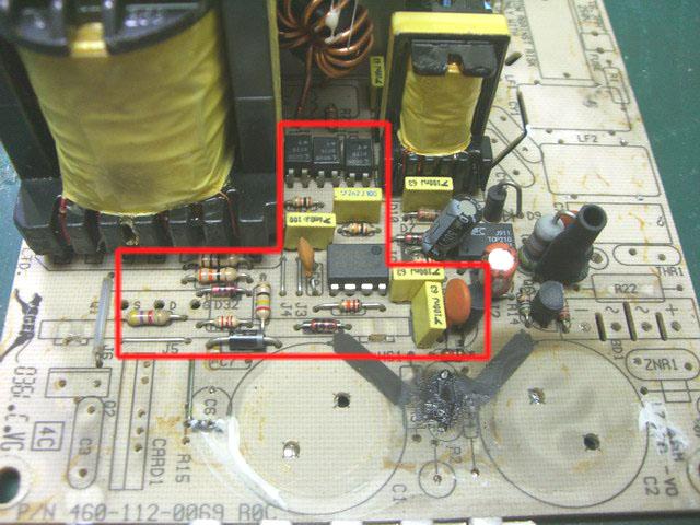 全波/倍压整流电路区的零件